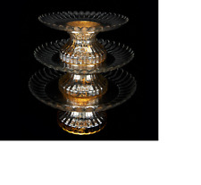 3-Tiered Lit Mercury Glass Serving Platter by Valerie QVC