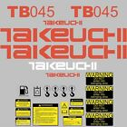 TB045 Decals TB045 Stickers Takeuchi Excavator repro Decal Set stickers kit