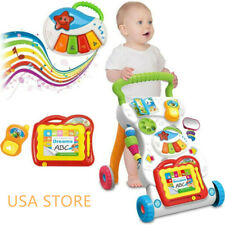 Baby Kids Toy Multifunctional Cartoon Stroller For Toddler Walk Learning Playing