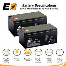 (2) ExpertBattery 12v 3ah 3.3ah Battery for APC BACK-UPS ES350