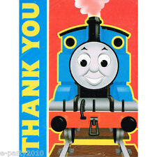 THOMAS the TANK & FRIENDS THANK YOU NOTES (8) ~ Train Birthday Party Supplies