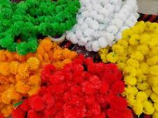 Artificial Marigold Flowers Pack Of 10 Garlands Home Party Wedding Decoration