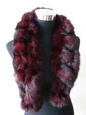 100% real rabbit fur scarf / women scarf / cape / wrap / purple 100*15cm