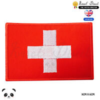 Switzerland National Flag Embroidered Iron On Sew On Patch Badge For Clothes etc