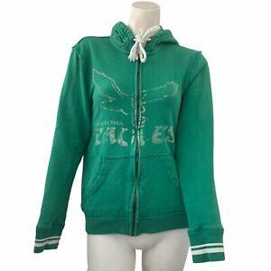 retro Mitchell & Ness Philadelphia Eagles Football Hoodie adult Green Size M NFL