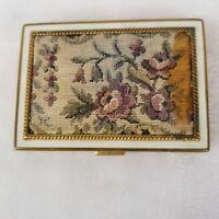 Vintage Rex Fifth Avenue Vintage 1930s Powder Compact Mirror Tapestry Design