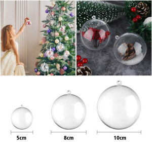 20x Xmas Decor Hanging Decorations Ball Clear Plasticll Fillable Ornaments Party
