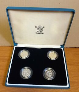4 Boxed Limited Edition Proof 925 Silver PIEDFORT UK United Kingdom £1 Coins