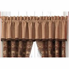 CROSCILL Valance, SET OF TWO, 88 x 17, PONDERA, Bear Deer Lodge Cabin, NWT
