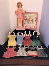 "VINTAGE SAALFIELD 1958 SHIRLEY TEMPLE PAPER DOLLS-DOLL IS 18 1/2"" Tall-8 OUTFITS"