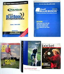 Golf Blue Books 2003 7 2007 Rules of Golf 2004 Pocket Tips 1998 & 2008 Booklets