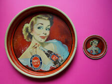 Mexican Mexico tip and service tray Doble Double Cola Pin Up 1950s RARE