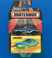 2016 BEST OF MATCHBOX - 1993 V8 FORD MUSTANG LX SSP SHERIFF POLICE CAR mint!