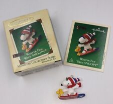 Hallmark Peanuts Winter Fun with Snoopy Miniature Ornament 2002 Woodstock