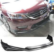 Fit 13-17 Honda Accord 4Door PP Front Bumper Lip Unpainted Black