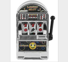 Mini Slot Machine And Bank toys for Decompression toys gift-silver