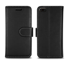 Magnetic Flip Wallet Leather Case Cover for Apple iPhone 5 5c 5s Screen Guard Plain Black I Phone 6