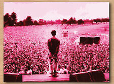 ***Oasis - Liam Gallagher - Red/Pink -  Canvas Art***