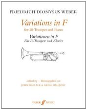 Variations in F: (Trumpet and Piano) (Faber Edition) Paperback Book The Cheap