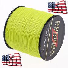 US 328yds Fluorescent Yellow 30LB 100% pe Dyneema Braided Fishing Line