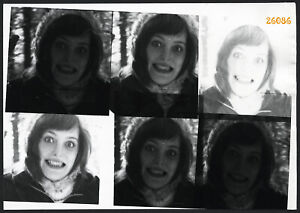 pretty girl and her strange smile, unusual, Vintage Photograph, 1960'