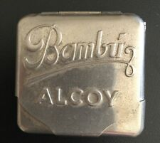 BAMBU ALCOY VINTAGE CIGARETTE ROLLING PAPER HOLDER CHROME TIN CASE