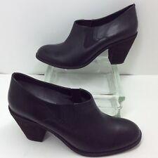 Softwalk ��Fargo�� Black Leather Slip On Low Ankle Boots 3.5�� Heel Women��s SZ 12 N