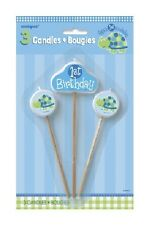 """First (1st) Birthday (Boy) TURTLE 3 PICK BIRTHDAY CANDLES (4"""")(Party/Decoration)"""