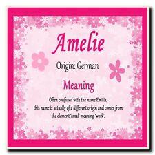 Amelie Personalizado Nombre significa Coaster