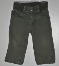 babyGAP Size 6-12 Months Boys  Olive Green Pull-On Playdate Straight Jeans