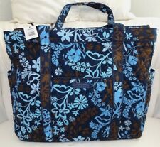 VERA BRADLEY Get Carried Away Large Tote  - JAVA FLORAL Navy Blue - New with Tag