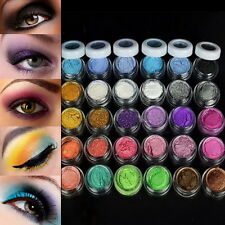 Colorful 30 Colors Eye Shadow Powder Makeup Mineral Eyeshadow UV