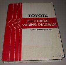 Werkstatthandbuch Toyota Supra MR2 Crown Celica Electrical Wiring Diagram 1986