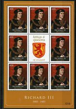 Gambia 2012 MNH Kings & Queens of England Richard III 8v M/S Royalty Stamps