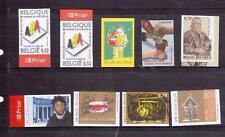 Belgium 2005-09 nine imperf issues MNH