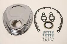 Chrome SB Chevy Timing Chain Cover Kit 327 350 383 400 SBC Gasket Seal Bolts Set