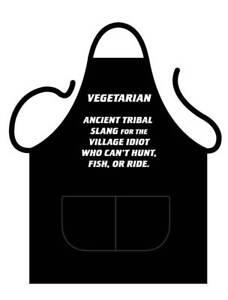 BLACK NOVELTY APRON  GREAT GIFT FOR VEGETARIANS COOKS