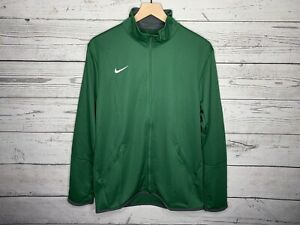 Nike Mens Green Dri-Fit Team Woven Full Zip Jacket Size Medium NWT