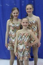 Gold figure skating dress, small adult