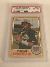 2017 Heritage Minors VLADIMIR GUERRERO JR RC Rookie SP PSA 10 GEM MINT - QTY