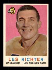 1959 Topps #84 Les Richter Rams EX-MT *9s