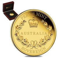 2018 Australia Proof Gold Sovereign - Perth Mint (w/Box & COA)