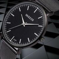 Mode Frauen Kristall Edelstahl Analog Quarz Runde Wrist Watch Armband