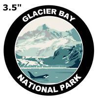 "Orca 3.5/"" Die Cut Auto Vinyl Decal Explore Glacier Bay National Park"
