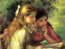 Renoir The Reading Fine Art Canvas Giclee Sample Print
