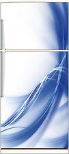Sticker frigo électroménager déco cuisine Design bleu 70x170cm réf 524