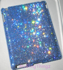 16ss LT SAPPHIRE CRYSTAL Diamond Bling Case for iPad 3 made w Swarovski Elements