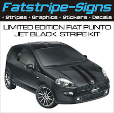 FIAT PUNTO EVO LIMITED EDITION JET BLACK STRIPE KIT CAR VINYL GRAPHICS DECALS