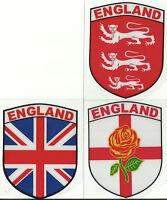 Set 3 Angleterre Anglais Bouclier Forme Interne Vitre Voiture Autocollant