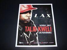 Talib Kweli Live @ Luxor Las Vegas 15x12 Matted 2012 Event Promo Ad / Art New